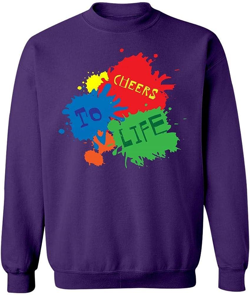 Cheers to Life Creative Art Design Sweatshirt
