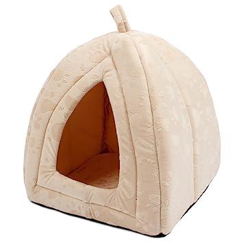 JIALUN-Mascota Cama de perro Cama de mascota Cama de cueva de gato Carpa para