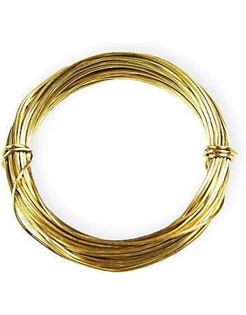 22 Ga Solid Yellow Brass Jewelry /& Craft Wire SOFT 500 Ft. Spool // 1 Lb