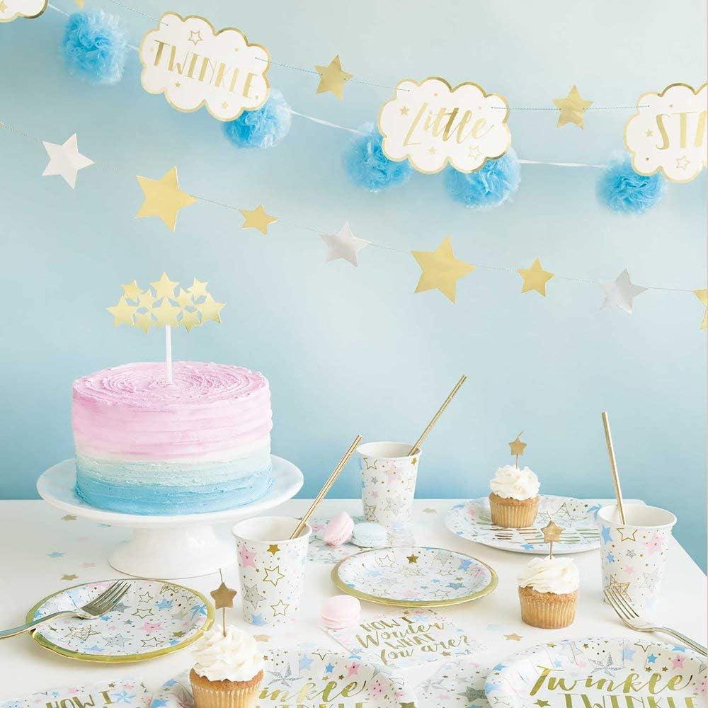 Unique Twinkle Little Star Luncheon Napkins 6.5 16 Ct Multicolor 72412