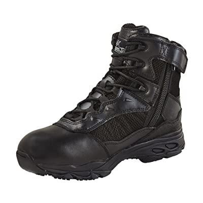 Thorogood Men's 6'' ASR Tactical Side Zip Professional Boots, Black Leather, Mesh, 4 M | Hiking & Trekking
