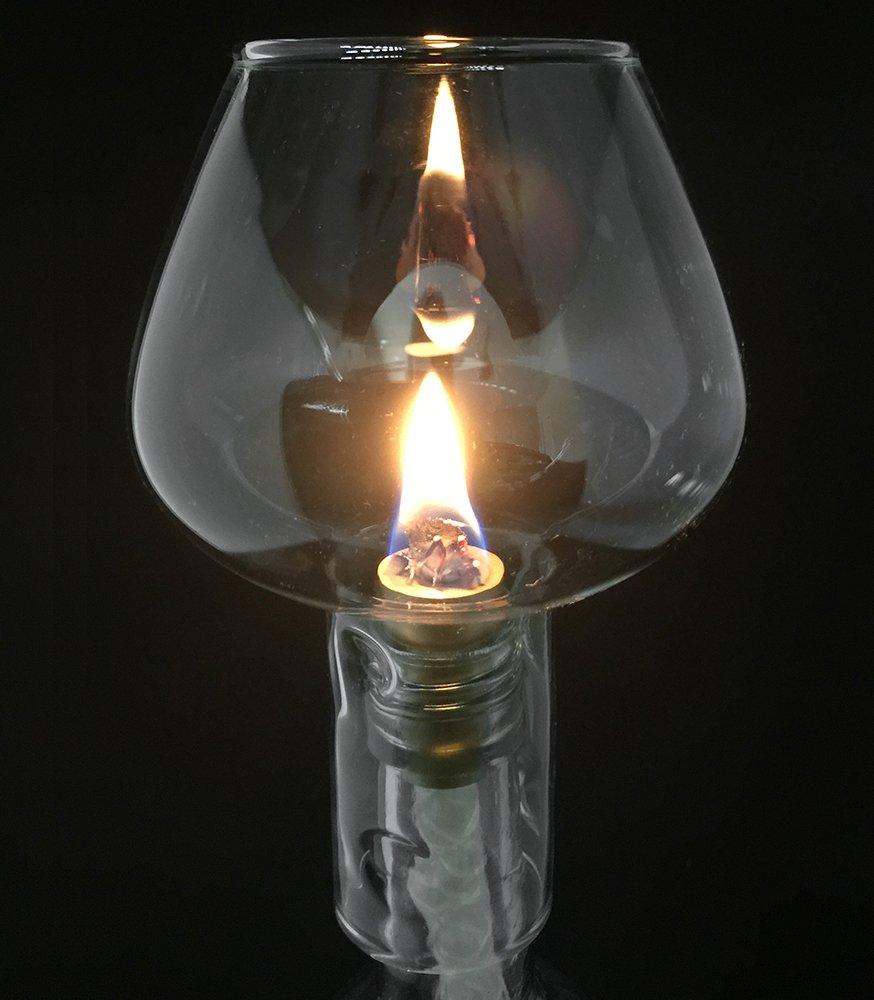 Firefly Wine Bottle Oil Lamp Kit, 3/8 Fiberglass Wick & Aluminum Wick Holder