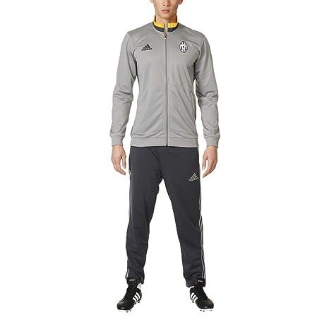 Adidas Juve Pes Suit Tuta Da Ginnastica Uomo - Grigio (Grigio Oro ... 51a016ef6975