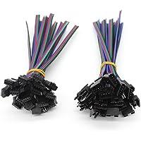 VIPMOON 20Pairs JST SM 4PIN Enchufe Macho a Hembra EL Cable Conector Adaptador