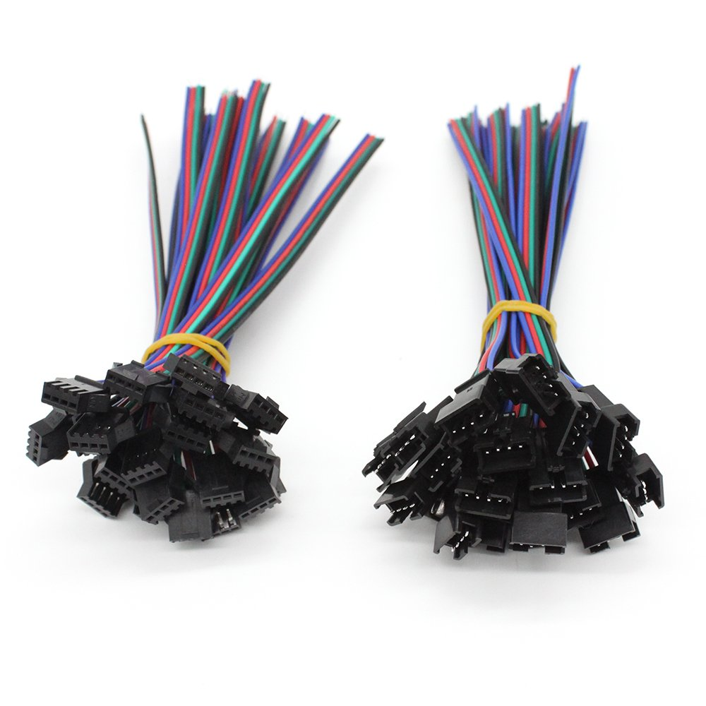 Promo Connector Led Strip 5050 Kabel Update 2018 Amedee Blouse Wanita Abf01818bk Hitam M Rgbzone 20pairs Jst Sm 4pin Plug Male To Female El Wire Cable