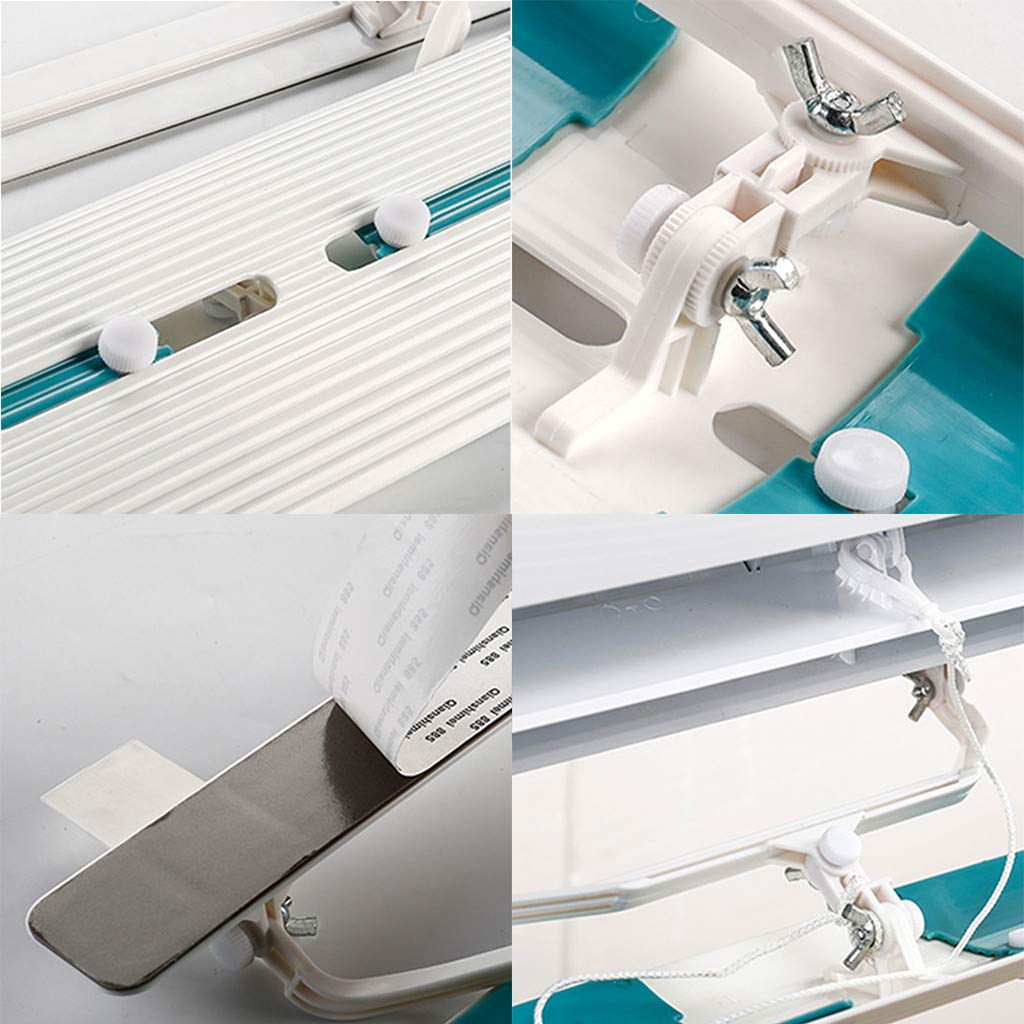 Paste Design No Drill Needed Adjustable Wind Angle AC Wind Shield Outlet Baffle Easy to Clean 54cm~69.5cm for Universal AC Watopi Easy Install Retractable Air Conditioning Windscreen