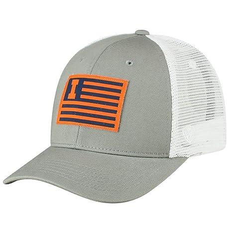 uk availability 4e2d0 b6026 Image Unavailable. Image not available for. Color  University of Illinois Men s  Trucker Hat Brave Snapback Cap