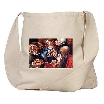 12 Year Old Jesus & The Scribes (Durer) Organic Cotton Canvas Market Bag