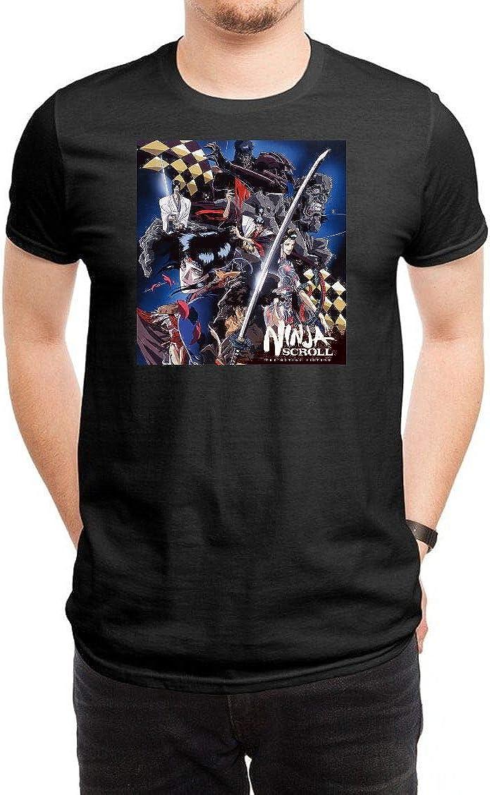 XIAOMINGYI Ninja Scroll Mens Black T-Shirt