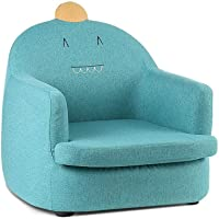 Artiss Kids Sofa Fabric Dinosaur Lounge Armchair Upholstered Single Couch, Green