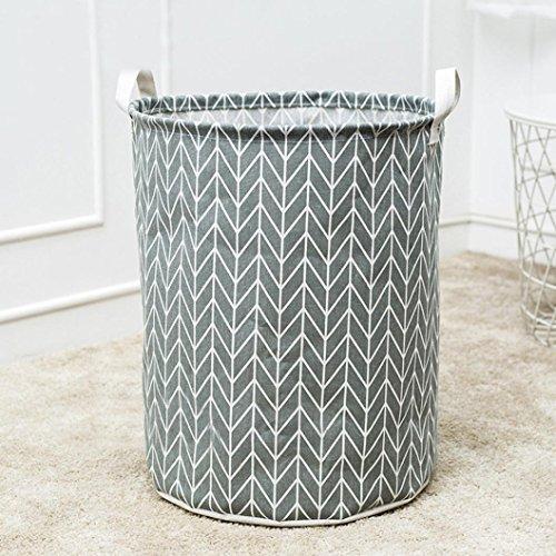 Leegor Waterproof Canvas storage barrel Sheets Laundry Clothes Laundry Basket Storage Basket folded Storage Box (C)