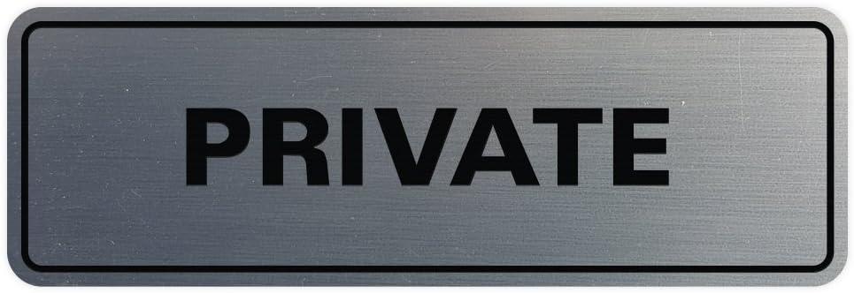 Amazon.com: Standard Privado de puerta/pared signo, Negro ...