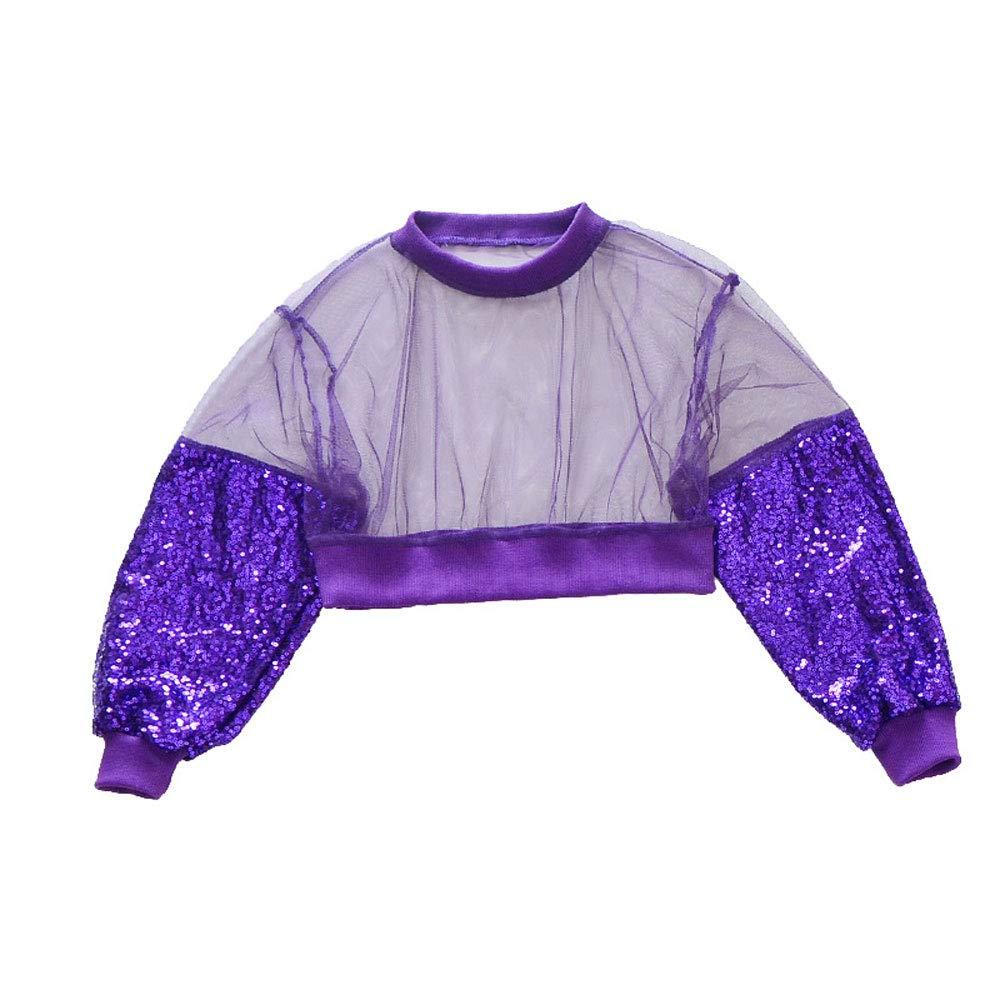 QYS Ragazze Bambini Modern Jazz Hip-Hop Dancewear Bambini Dance Paty Costumi Top//Pantaloni//Cappotto,Pants,110cm