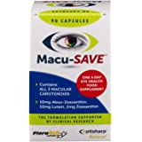 Macu-SAVE Eye Supplement for Macular Health with Meso-Zeaxanthin/Lutein and Zeaxanthin - Pack of 90 Capsules