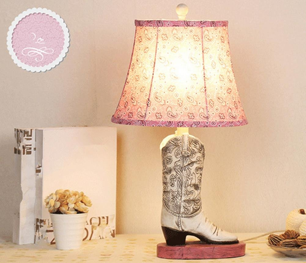 DGS Resin Creative Personality Women'S Shoes Table Lamps Cartoon Children'S Bedroom Bedside Footwear Showcase (30 56Cm) by DMMSS