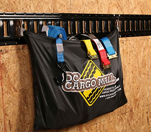 E-Track TieDown Kit! FOUR 2''x16' Ratchet Straps, EIGHT TieOffs, SIX O Rings, ONE Etrack Bag. Ideal TieDown Accessories Bundle for Trucks, Warehouses, Docks, Trailers, Boats. E-track NOT included. by DC Cargo Mall (Image #4)