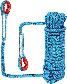 KXS Cuerda Escalada al Aire Libre,Paracord,Cuerda de Supervivencia,Cuerda para Escalada,Cuerda de Paracaídas,Cuerda Servicio Pesado con Mosquetón