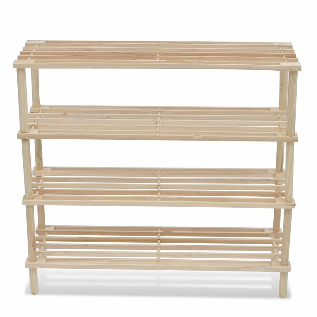 vidaXL Struttura di legno con 4 mensole per le scarpe 2 pezzi