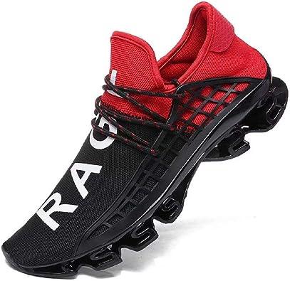 Fushiton - Zapatillas de running para hombre, color Rojo, talla 39 ...