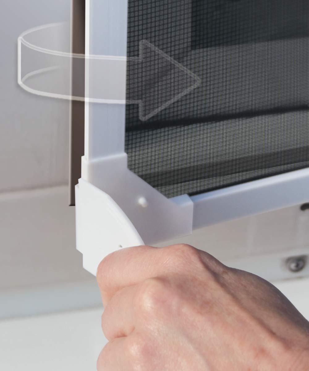 color blanco Schellenberg 50743 Mosquitera para ventana marco magn/ético, rejilla antipolen, 100 x 120 cm