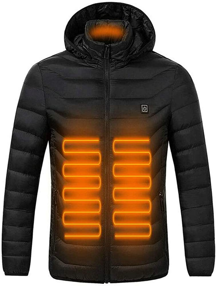 ANTARCTICA Upgraded USB Electric Heated Lightweight Rechargeable Heating Waistcoat Down Jacket Coat (Power Bank NOT Included)
