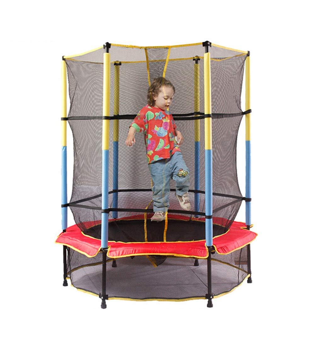 Lcyy-Benchuang Kids First Trampolin Kind Junior Trampolin Mit Gehäuse Sicherheitsnetz Gartentrampolin Indoor Outdoor Sport