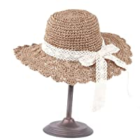 Hat Pure Color Spring Summer Straw Hat Sunblock Sun Hat Cap Accessories (Color : Khaki)