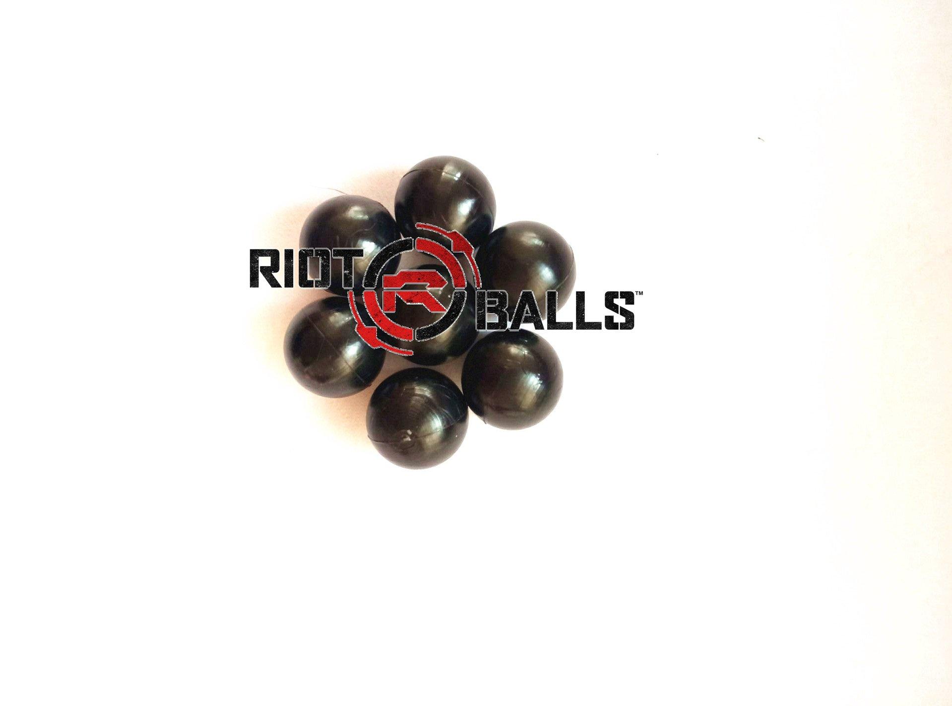 500 Count X 0.43 Cal. Black PVC/Nylon Riot Balls Self Defense Less Lethal Practice Paintball