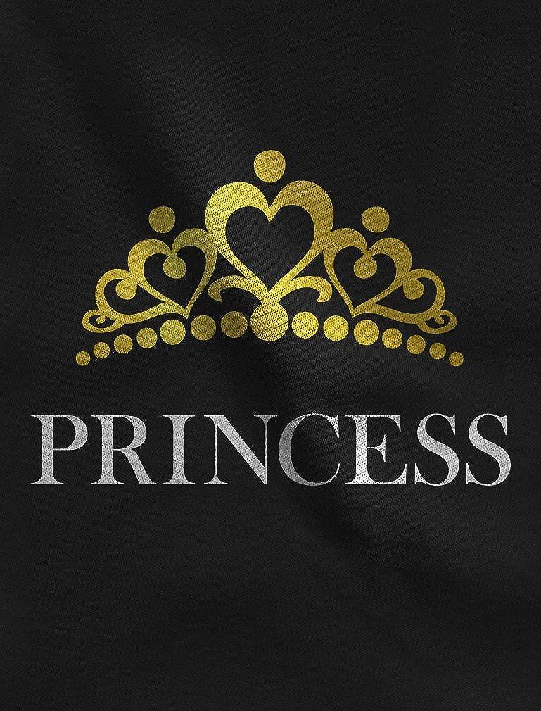 Little Girl Toddler Jersey T-Shirt TeeStars Princess Crown Gift for Daughter