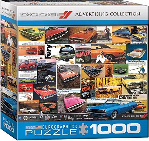 EuroGraphics Vintage Car Ads Dodge Small Box Puzzle (1000 Pieces)
