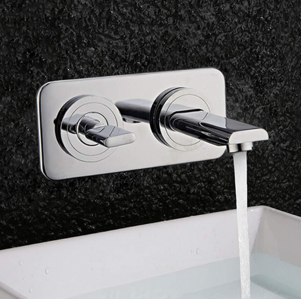 ROTOOY Wasserhahn Vollkupfer Integrierte Wasserhahn Badezimmer Wand Art Kunst Tippen Sie auf Heiß und Kalt Duplex