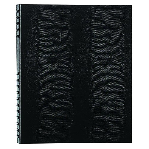 NotePro Undated Daily Planner, Black, 200 Pages,11 x 8-1/2 Inches (Page Daily Calendar)