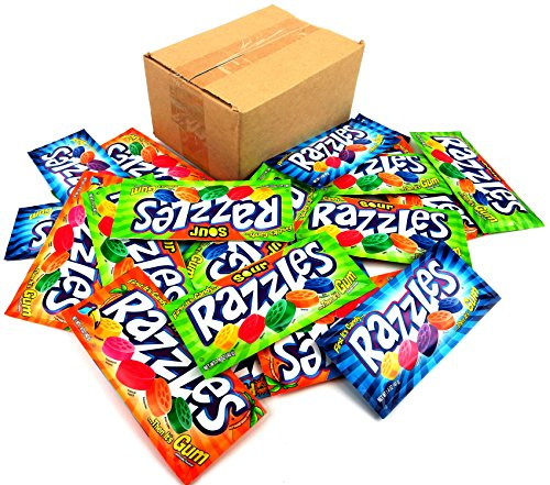 Razzles Sour - Razzles Variety Pack - Original, Sour & Tropical (Pack of 24)