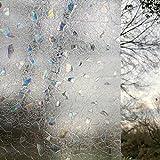 Window Art Vinyl UV Block Cut Glass Decorative Privacy Window Film Roll 3Ft by 6.5Ft