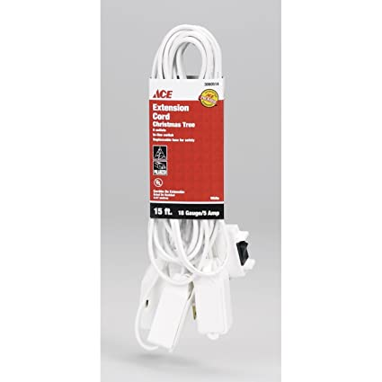 Ace Christmas Tree Extension Cord Xm Spt2 15wh Multi Outlet