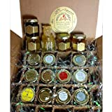Honey 12 Jar Assortment-12 Different Honeys 2oz Jars