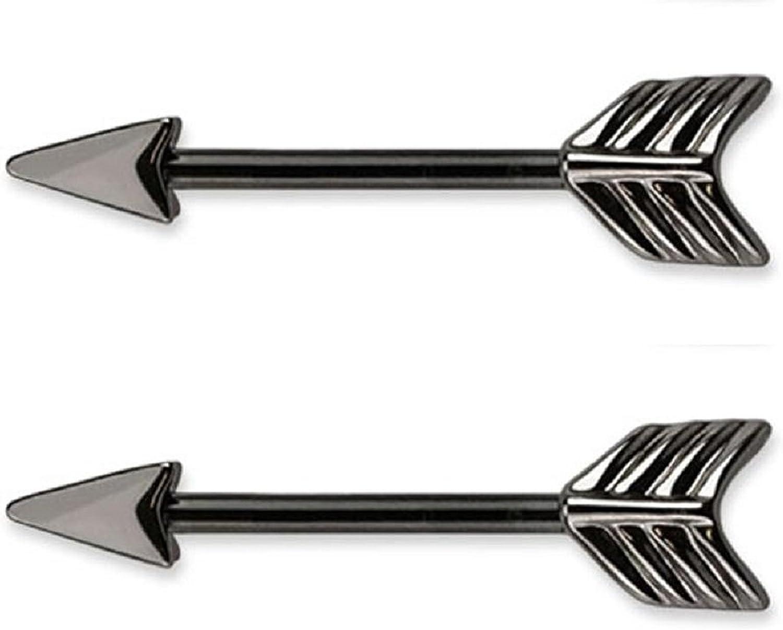Arrow Nipple Bar Body Piercing Jewellery CHOOSE SINGLE OR PAIR