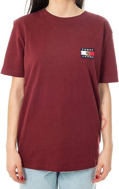 Camiseta para mujer Tommy Jeans Bandera DW05966.250 250 Cabernet XXS: Amazon.es: Ropa y accesorios
