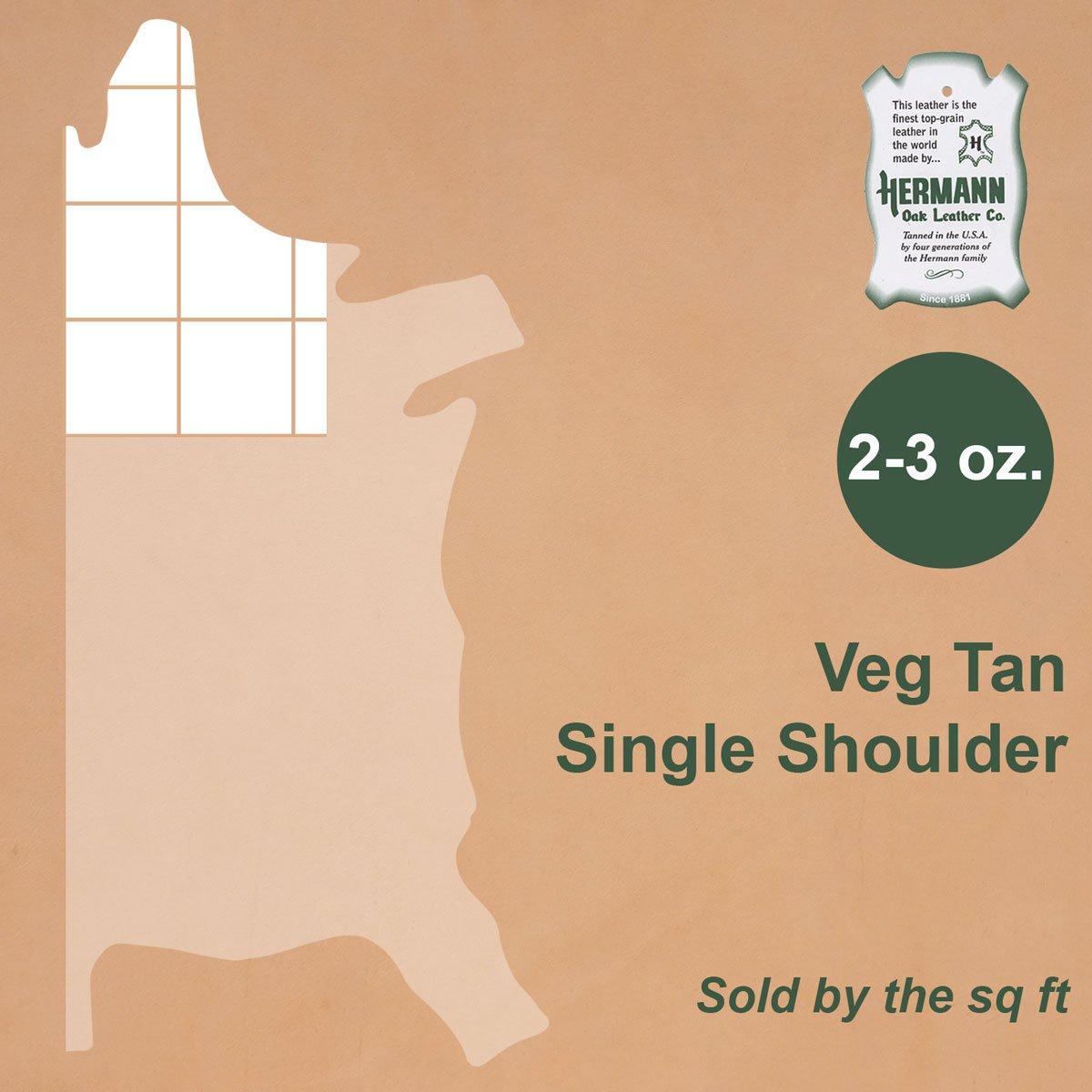 Hermann Oak Tooling Leather (Single Shoulder, 2-3oz) by Hermann Oak (Image #2)