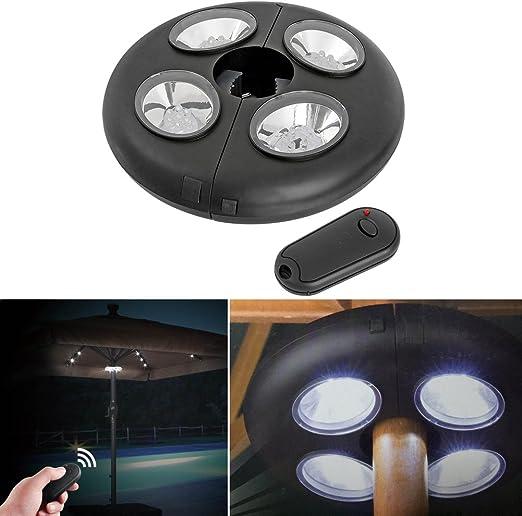 Tienda jardin paraguas sombrilla iluminador LED luz lámpara 27 caminatas al aire libre luz de noche con control remoto IR: Amazon.es: Iluminación