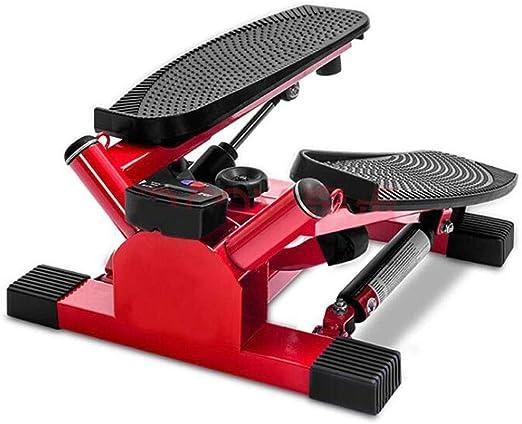 SCTBJ Fitness Mini Escalera Ajustable Equipo de Ejercicio Paso a Paso Máquina de Paso con acción de torsión Rojo 42 * 40 * 23 cm: Amazon.es: Hogar