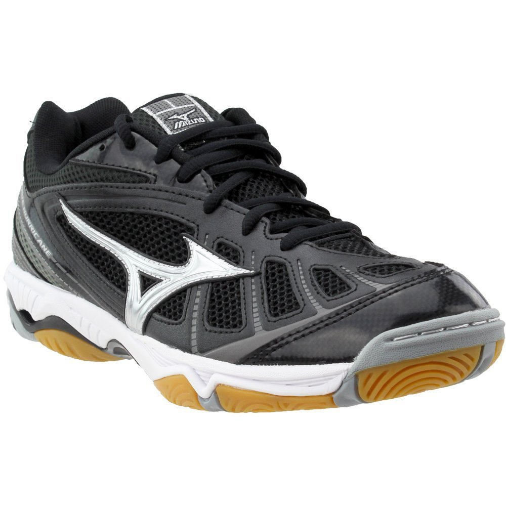Mizuno Women's Wave Hurricane WOMS BK-SL Volleyball Shoe, Black/Silver, 10 B(M) US