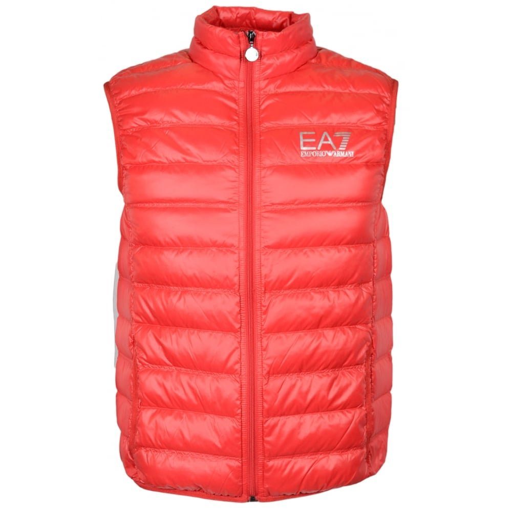 EA7 by Emporio Armani 8NPQ01 Ultra-Light Down Racing Red Gillet XXL Red by Emporio Armani