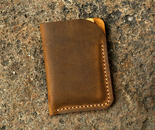 Minimalist leather credit card sleeve holder / personalized slim leather business card case wallet Gift wrap - Leather Sleeve Card