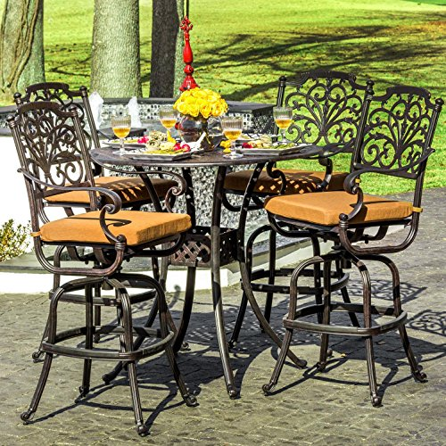 Lakeview Outdoor Designs Evangeline 4 Person Cast Aluminu...