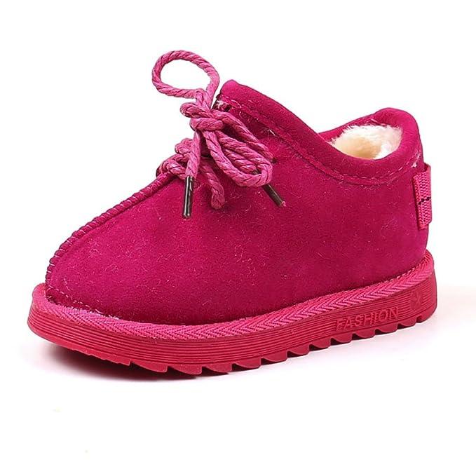 YanHoo Botas de Nieve para niños más Gruesas y Botas de Terciopelo Antideslizantes para niños Zapatos para niños Calientes para niñas Zapatillas de Deporte ...