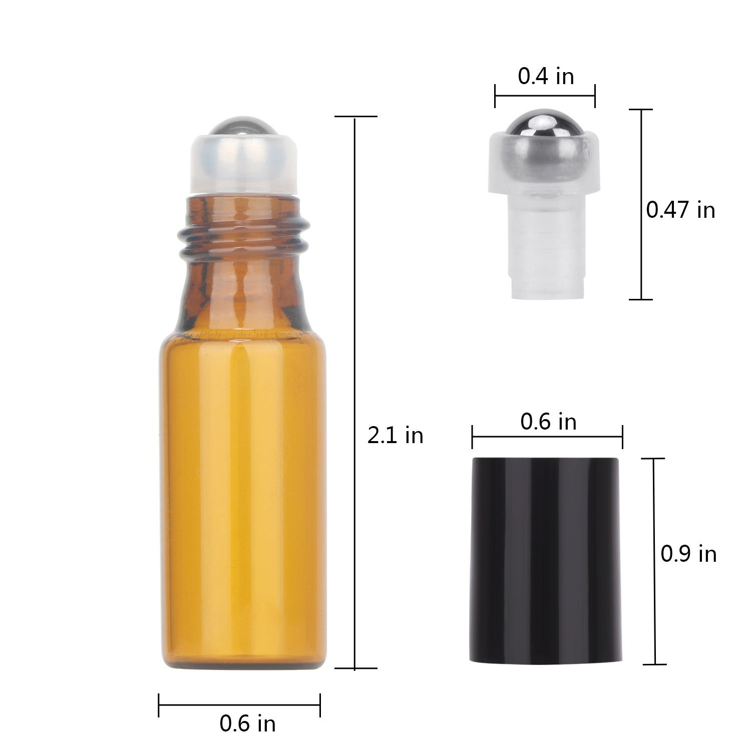 Essential Oil Roller Bottles, 24 Pack Amber Glass Roller Bottles 5ml, Roller Balls for Essential Oils, Roll on Bottles by Easytle (96 Pieces Labels, 4 Funnels, 4 Dropper, 2 Opener) by Easytle (Image #4)
