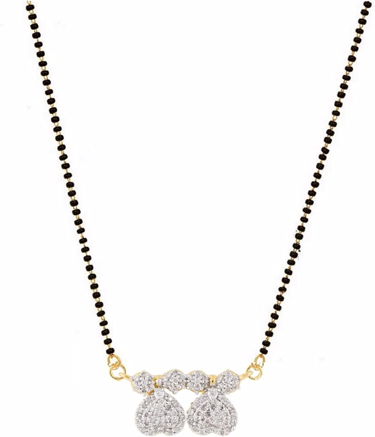 Traditional Chain Bollywood Ethnic Indian Designer Cz  Gold Plated Mangalsutra