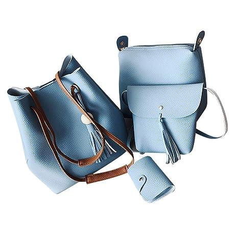 Amazon.com: Bolso de hombro para niña con cuatro bolsos de ...