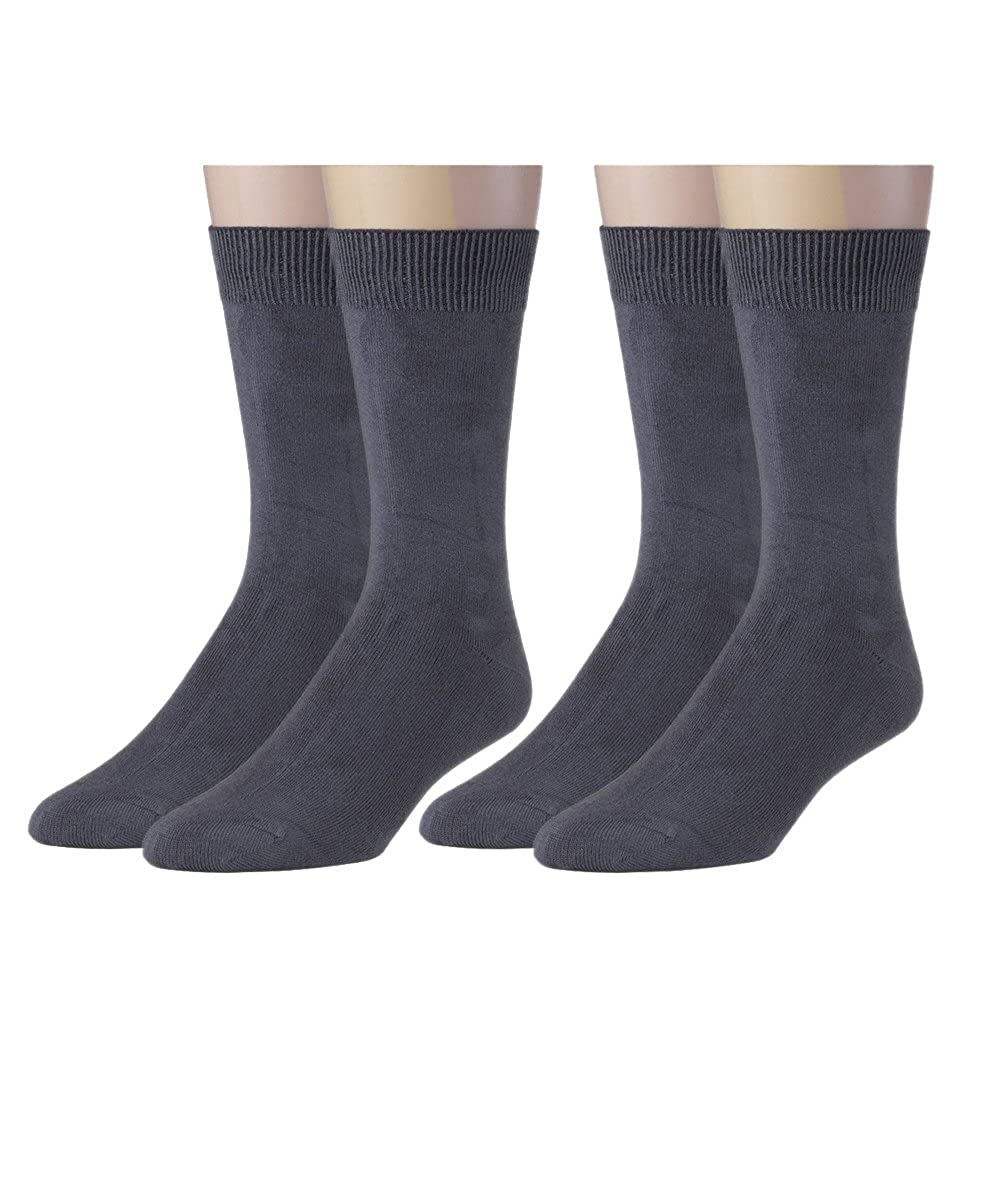 Silky Toes Modal Men's Dress Crew Socks, Super Soft Socks- Multi Pack
